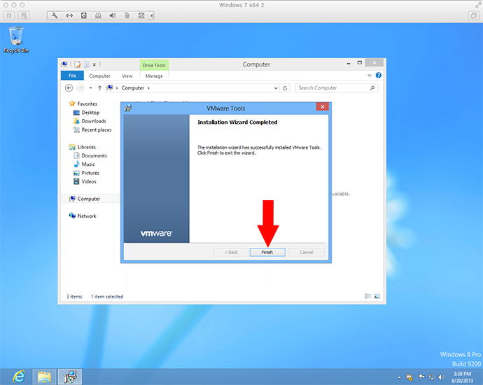 how to make a usb appear in vmware fusion
