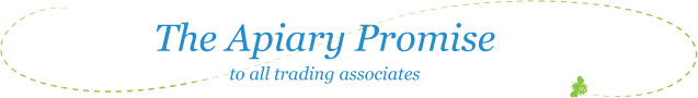 The Apiary Promise to all trading associates